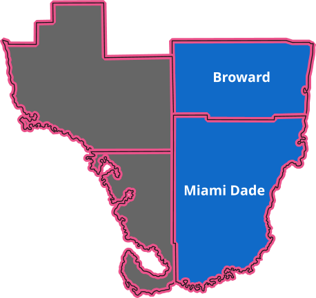 service areas covered